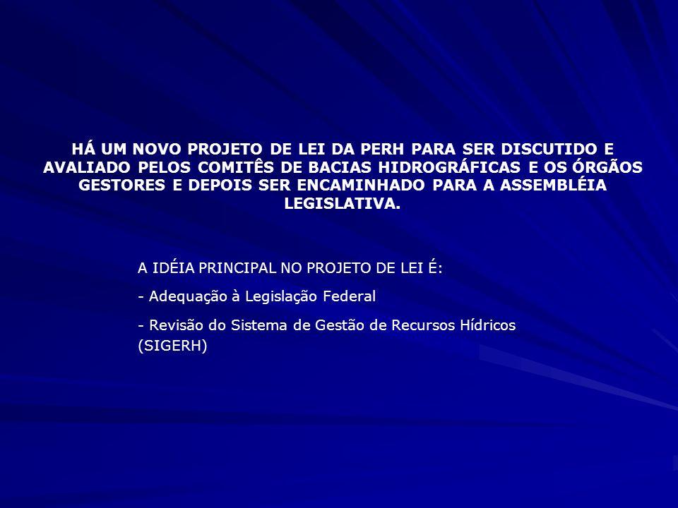 5- INSTRUMENTOS DE GESTÃO 5.1- Outorga de Uso da Água e Licença de Obras Hídricas - Regulamentação através de Decretos, Instruções Normativas, Resoluções do CONERH, Portarias.