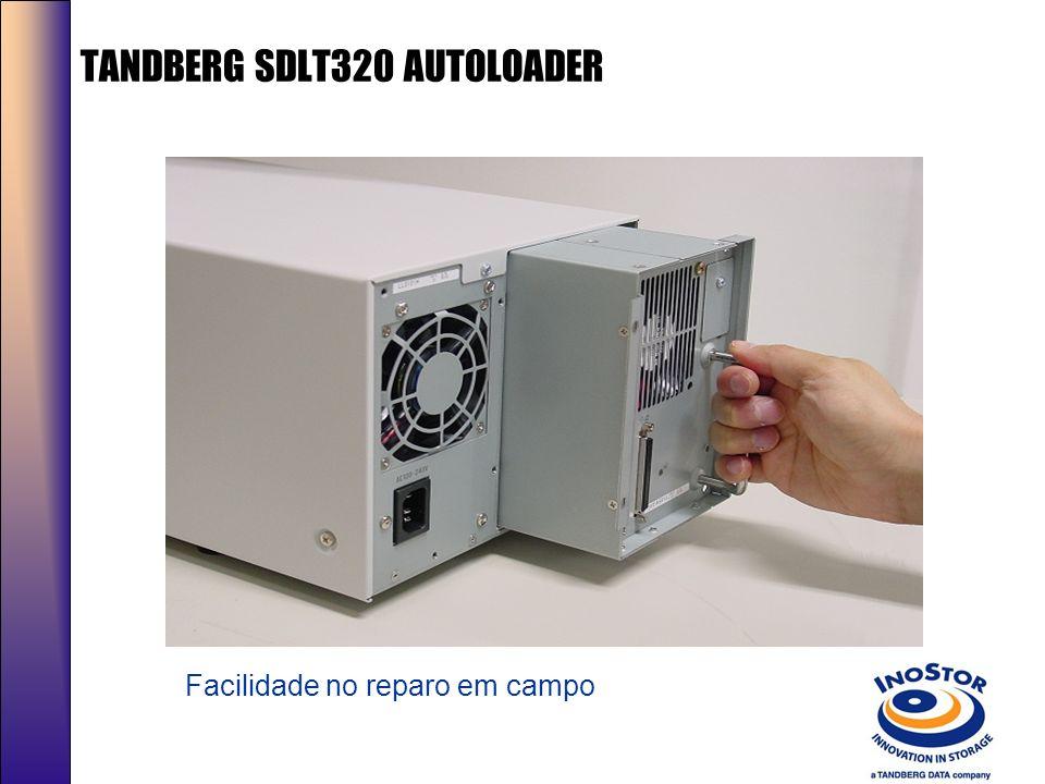 Novo AUTOLOADER SDLT320 Capacidade: 1.6/3.2TB; Performance:57/115 GB/Hrs; Compatibilidade em leitura com o DLT1,DLTVS80, DLT4000, DLT7000,DLT8000,SDLT220; Altura: 4 U´s; Leitor de Código de Barras (Opcional); MSBF: > 250,000 hrs Cartuchos: 10 slots ( 3 slots fixos) Magazine Removível: 7Cartuchos Garantia:3 anos (On site Opcional)