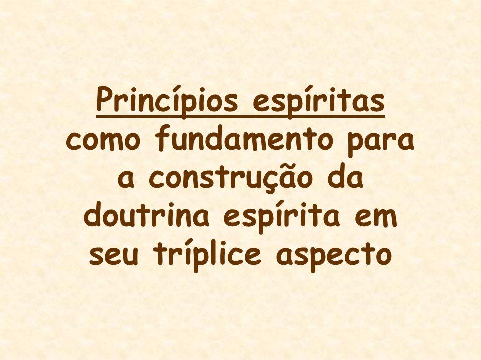 Princípios espíritas como fundamento para a construção da doutrina espírita em seu tríplice aspecto