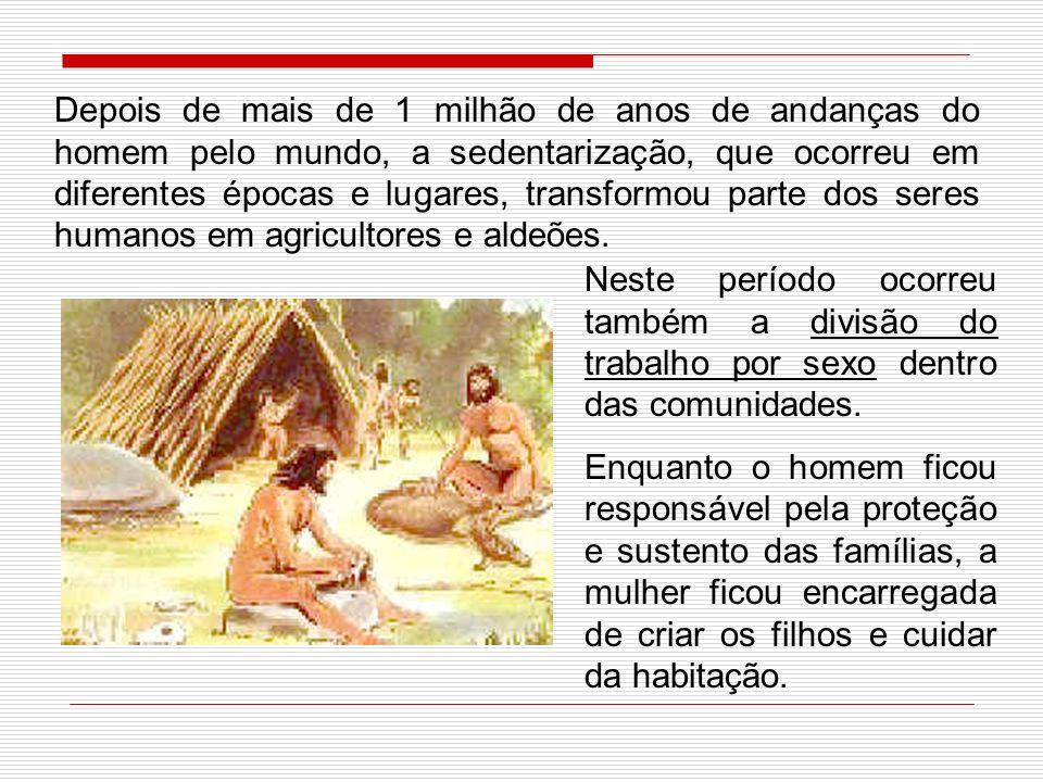 Em sua trajetória, os primeiros seres humanos eram nômades, caçavam, pescavam e faziam a coleta de frutas e raízes comestíveis. Dois grandes avanços f