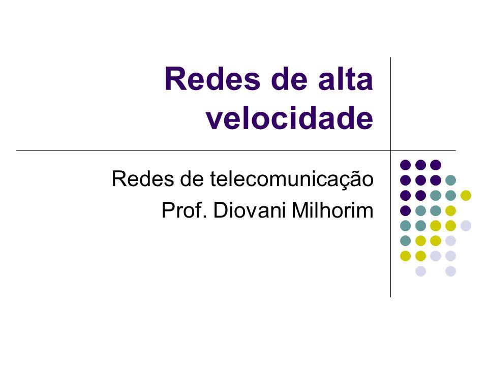 Redes de alta velocidade Redes de telecomunicação Prof. Diovani Milhorim