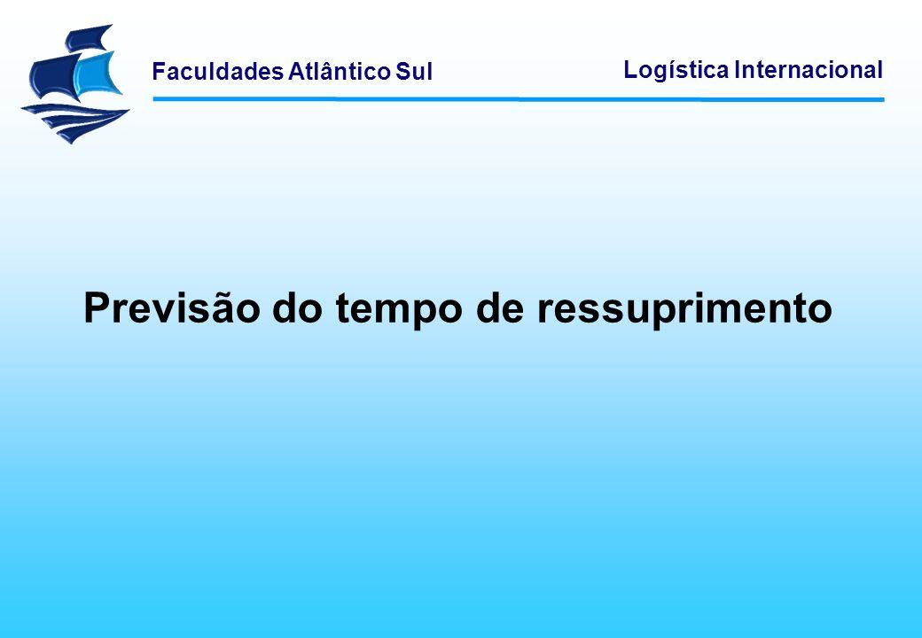 Faculdades Atlântico Sul Logística Internacional Previsão do tempo de ressuprimento