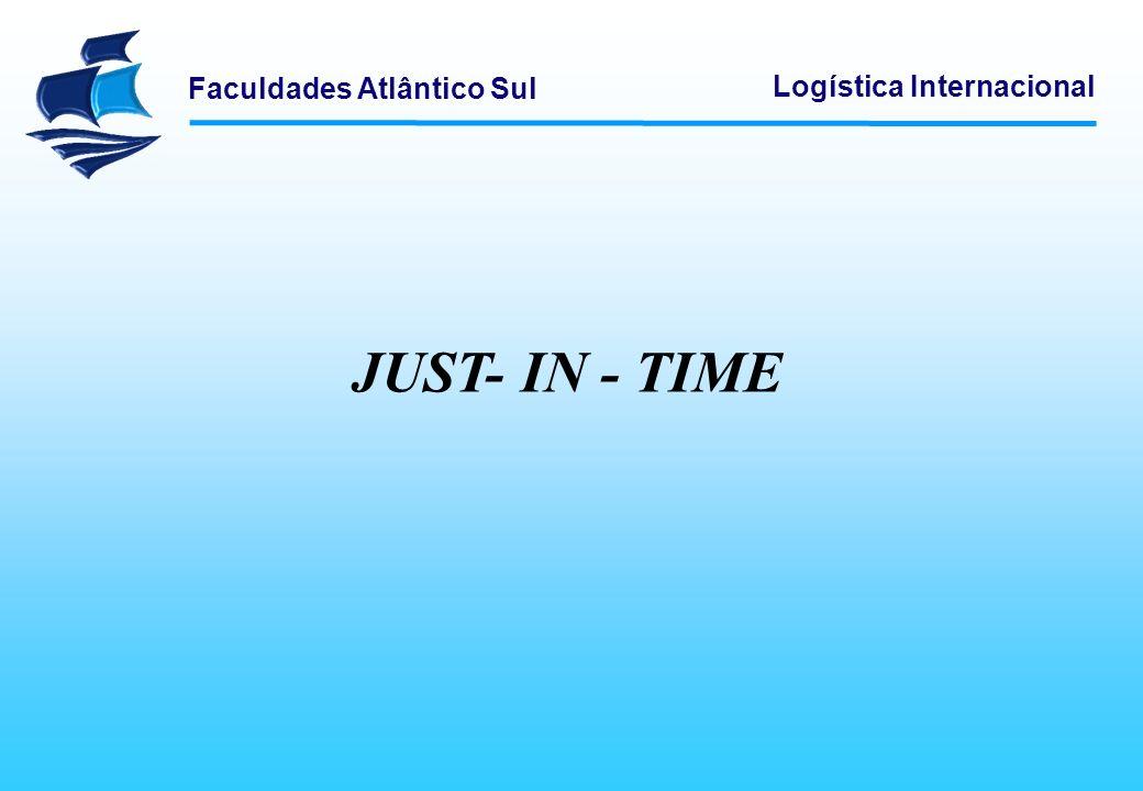 Faculdades Atlântico Sul Logística Internacional JUST- IN - TIME