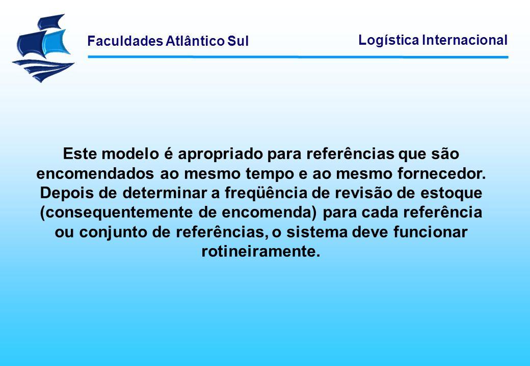 Faculdades Atlântico Sul Logística Internacional Este modelo é apropriado para referências que são encomendados ao mesmo tempo e ao mesmo fornecedor.