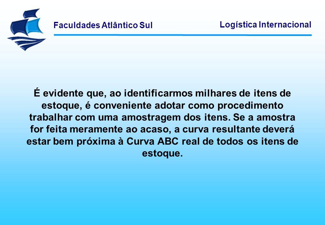 Faculdades Atlântico Sul Logística Internacional É evidente que, ao identificarmos milhares de itens de estoque, é conveniente adotar como procediment