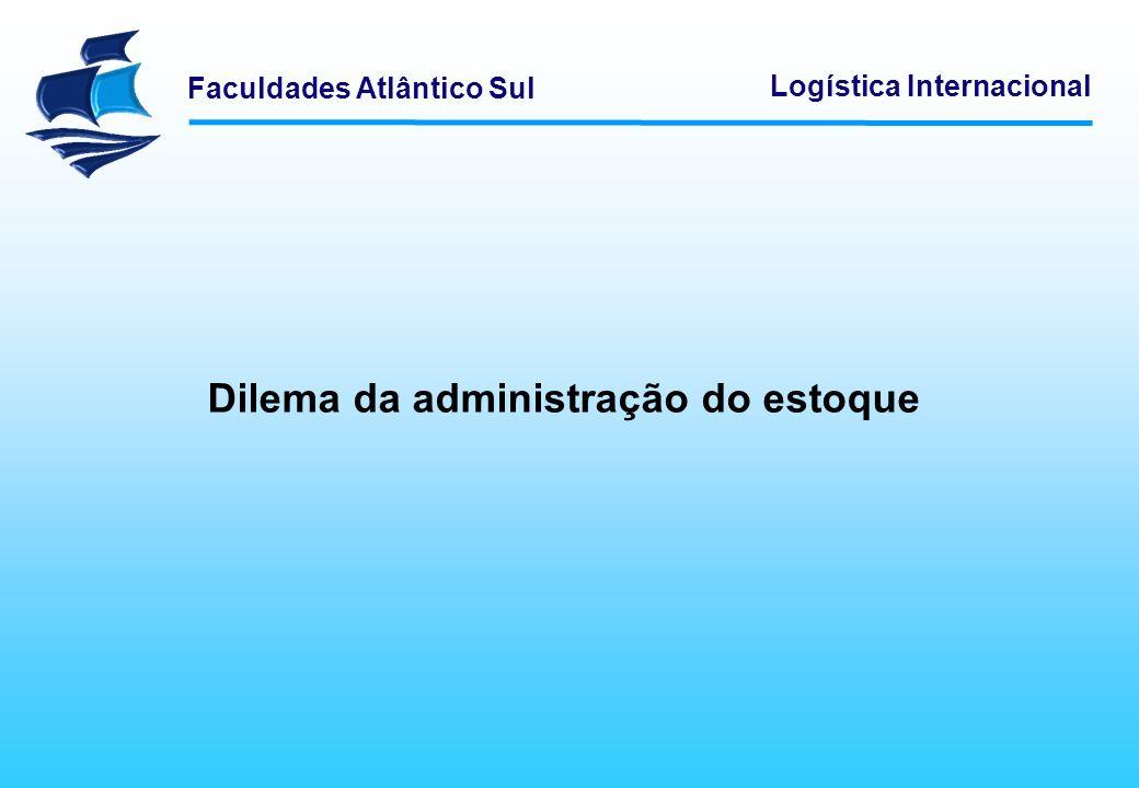 Faculdades Atlântico Sul Logística Internacional Dilema da administração do estoque
