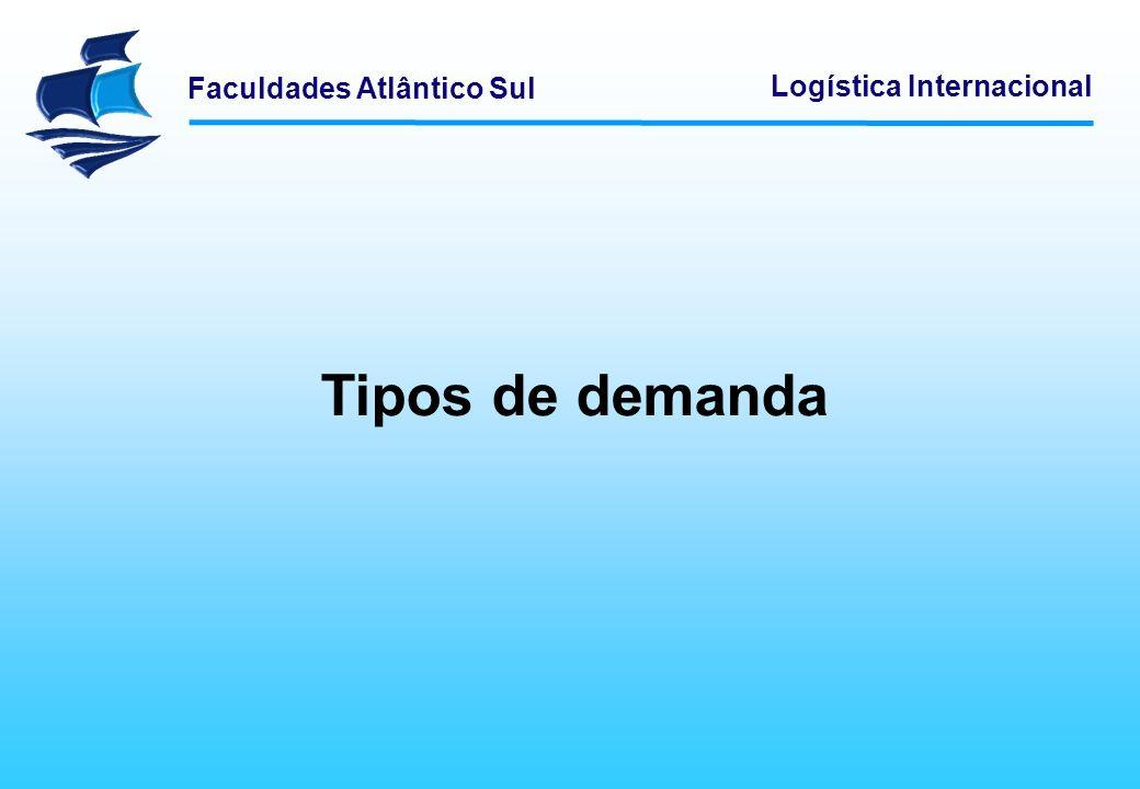 Faculdades Atlântico Sul Logística Internacional Tipos de demanda