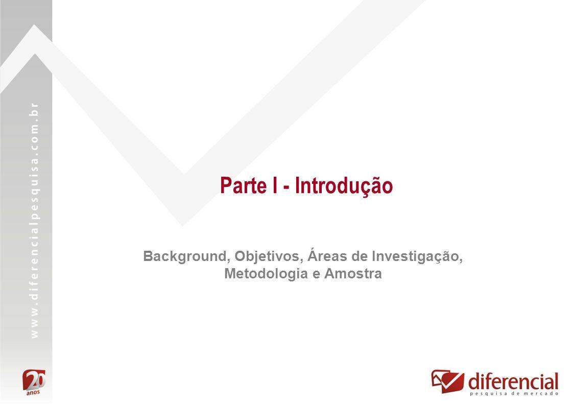 Parte I - Introdução Background, Objetivos, Áreas de Investigação, Metodologia e Amostra