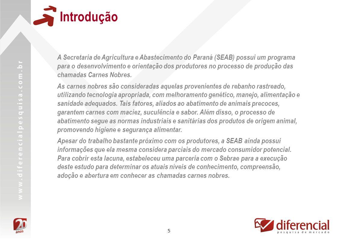 5 Introdução A Secretaria de Agricultura e Abastecimento do Paraná (SEAB) possui um programa para o desenvolvimento e orientação dos produtores no pro