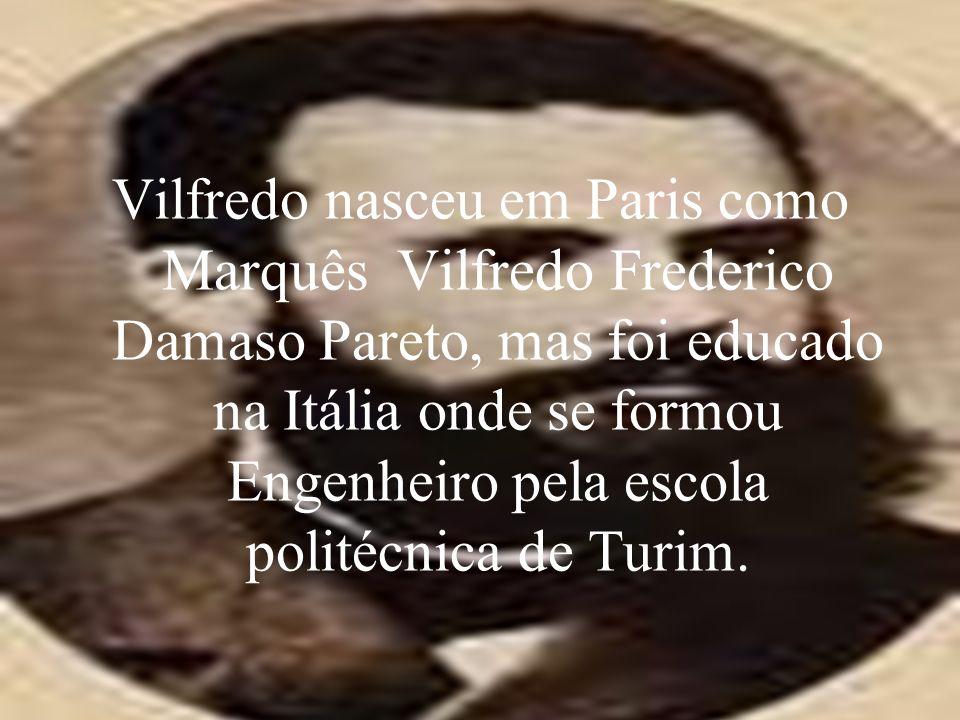 Vilfredo nasceu em Paris como Marquês Vilfredo Frederico Damaso Pareto, mas foi educado na Itália onde se formou Engenheiro pela escola politécnica de