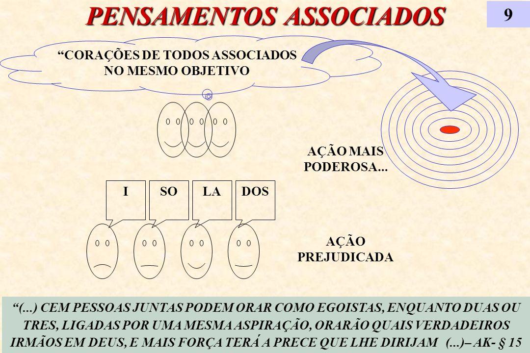 PENSAMENTOS ASSOCIADOS 9 CORAÇÕES DE TODOS ASSOCIADOS NO MESMO OBJETIVO AÇÃO MAIS PODEROSA... ISOLADOS AÇÃO PREJUDICADA (...) CEM PESSOAS JUNTAS PODEM