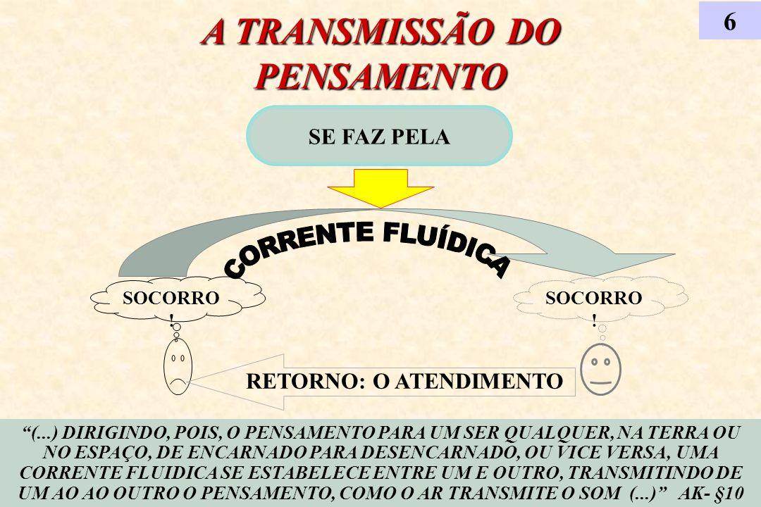 A TRANSMISSÃO DO PENSAMENTO SE FAZ PELA 6 (...) DIRIGINDO, POIS, O PENSAMENTO PARA UM SER QUALQUER, NA TERRA OU NO ESPAÇO, DE ENCARNADO PARA DESENCARN
