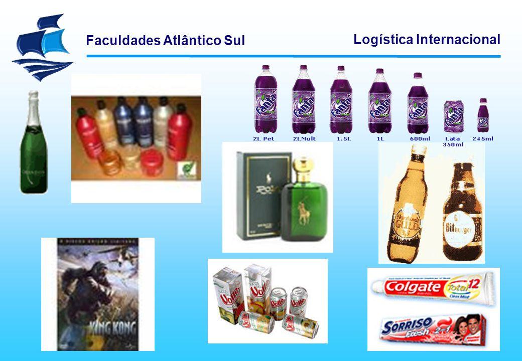Faculdades Atlântico Sul Logística Internacional A embalagem para consumo é aquela que possibilita o uso do produto, numa quantidade certa, econômica, sem desperdício, perda ou sem causar danos ou prejuízo, no caso de produtos perigosos.