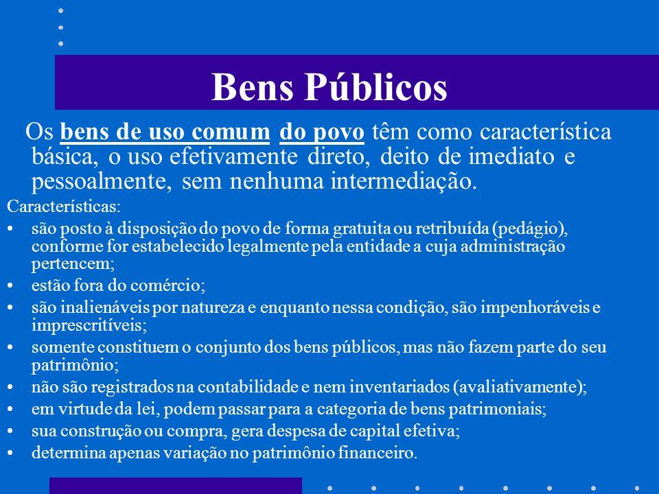 Bens Públicos Segundo o Código de Contabilidade Pública e o Regulamento Geral de Contabilidade Pública, por bens públicos entende-se o conjunto de coi
