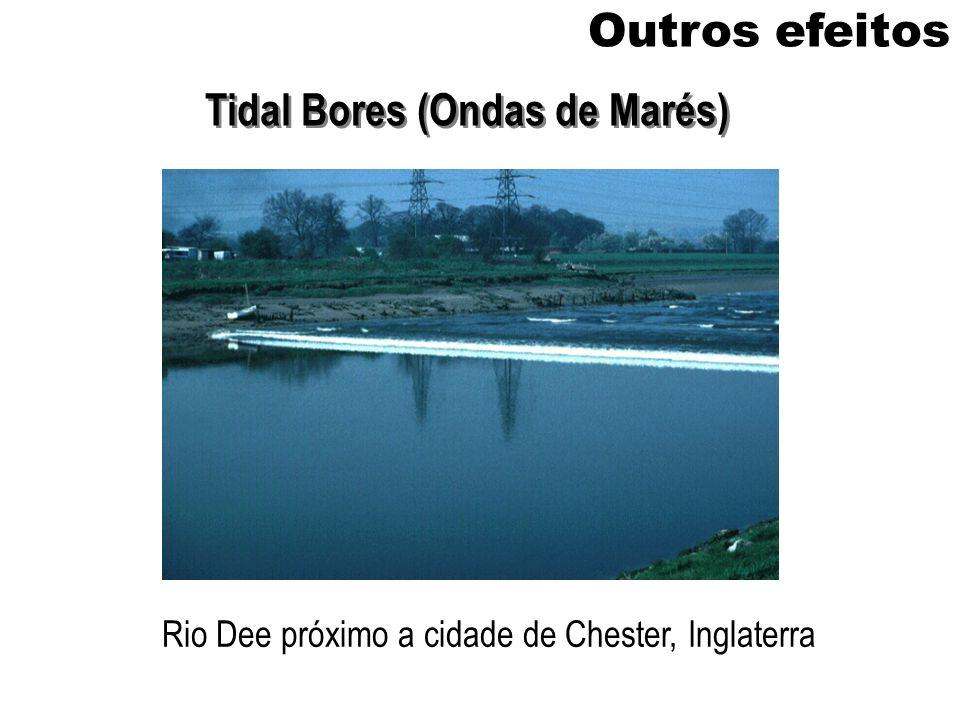 Outros efeitos Tidal Bores (Ondas de Marés) Rio Dee próximo a cidade de Chester, Inglaterra