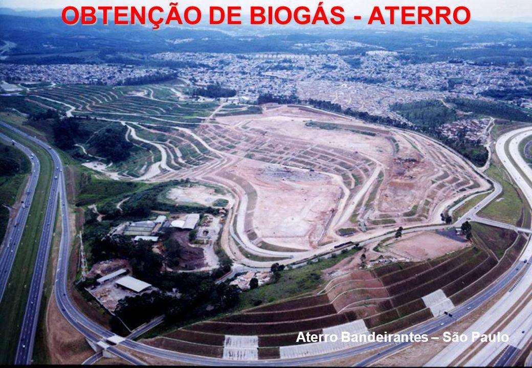 Aterro Bandeirantes – São Paulo OBTENÇÃO DE BIOGÁS - ATERRO