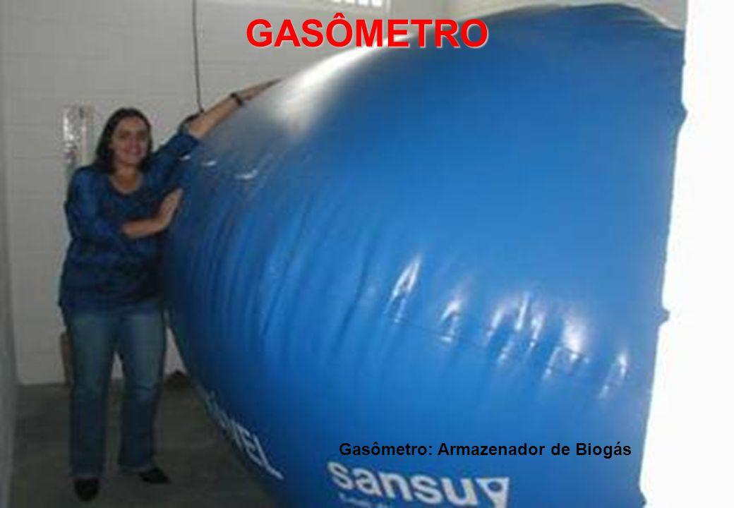 Gasômetro: Armazenador de Biogás GASÔMETRO