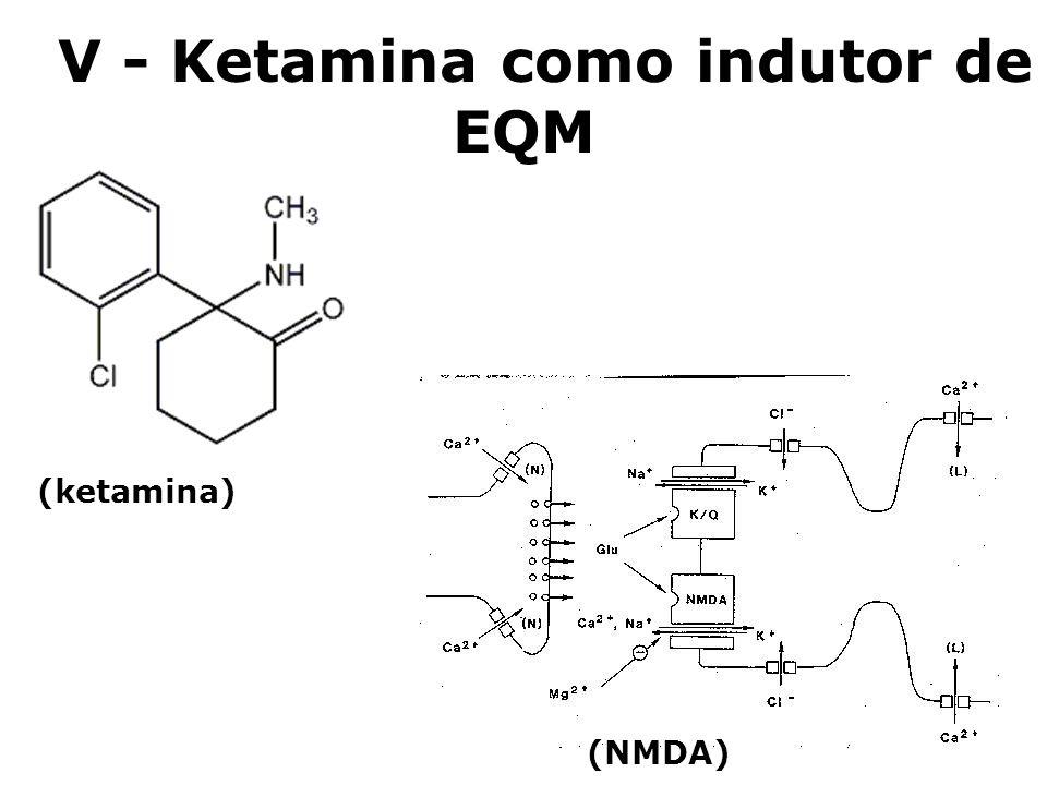 V - Ketamina como indutor de EQM (NMDA) (ketamina)