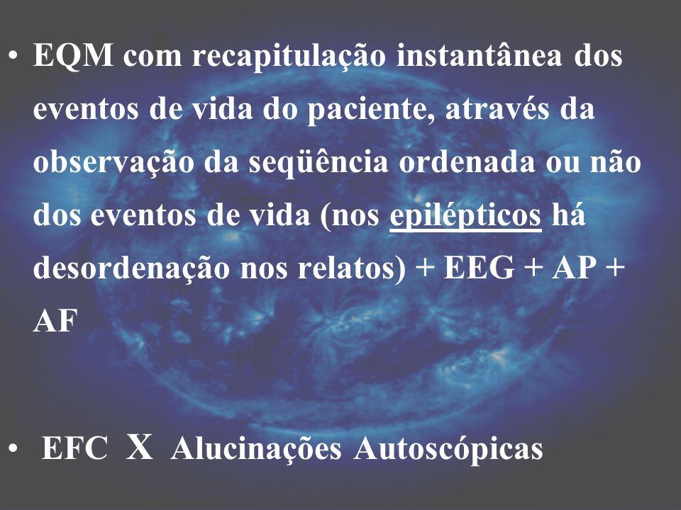 EQM com recapitulação instantânea dos eventos de vida do paciente, através da observação da seqüência ordenada ou não dos eventos de vida (nos epilépt