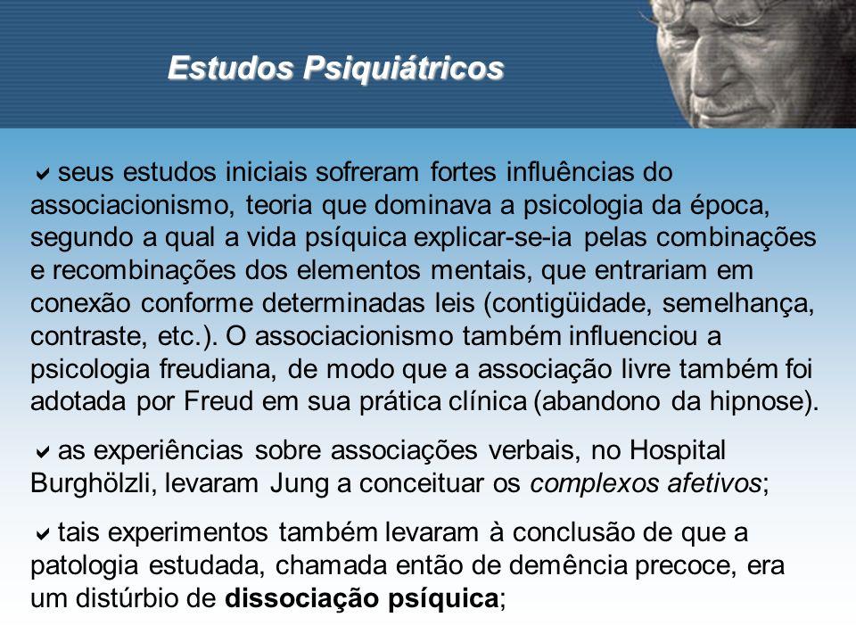 Estudos Psiquiátricos seus estudos iniciais sofreram fortes influências do associacionismo, teoria que dominava a psicologia da época, segundo a qual