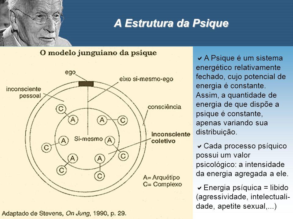 A Estrutura da Psique A Psique é um sistema energético relativamente fechado, cujo potencial de energia é constante. Assim, a quantidade de energia de