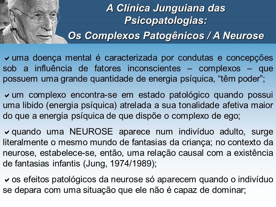 A Clínica Junguiana das Psicopatologias: Os Complexos Patogênicos / A Neurose uma doença mental é caracterizada por condutas e concepções sob a influê