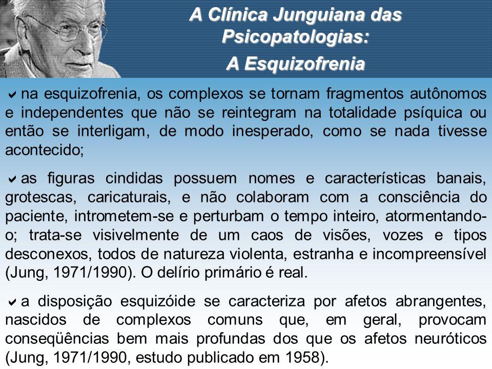 A Clínica Junguiana das Psicopatologias: A Esquizofrenia na esquizofrenia, os complexos se tornam fragmentos autônomos e independentes que não se rein