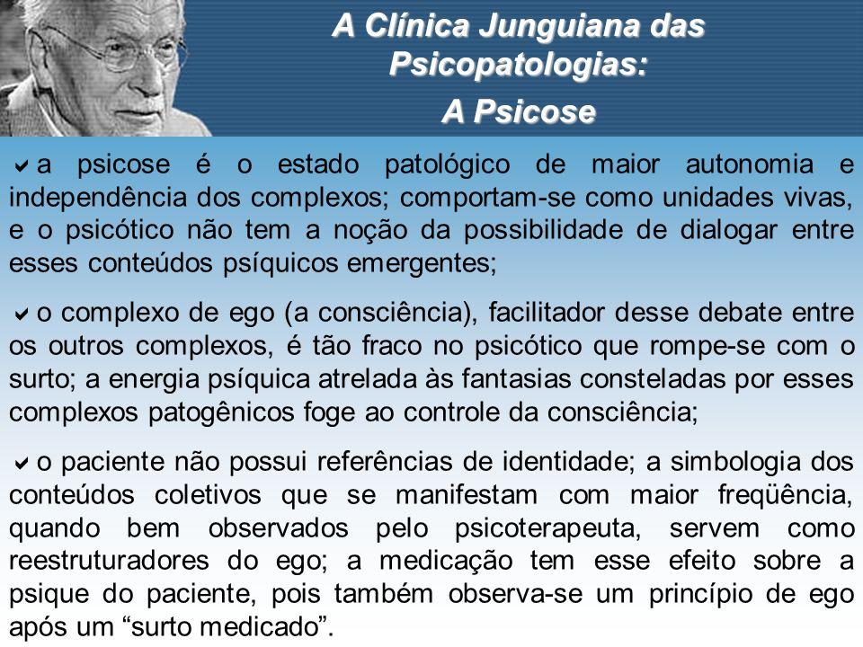 A Clínica Junguiana das Psicopatologias: A Psicose a psicose é o estado patológico de maior autonomia e independência dos complexos; comportam-se como