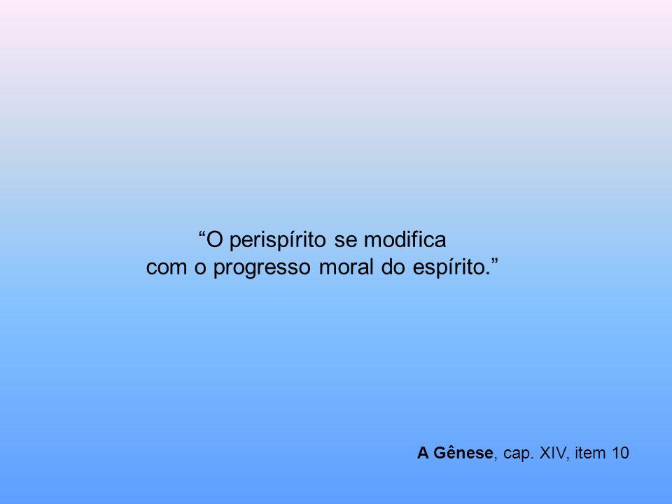 A Gênese, cap. XIV, item 10 O perispírito se modifica com o progresso moral do espírito.
