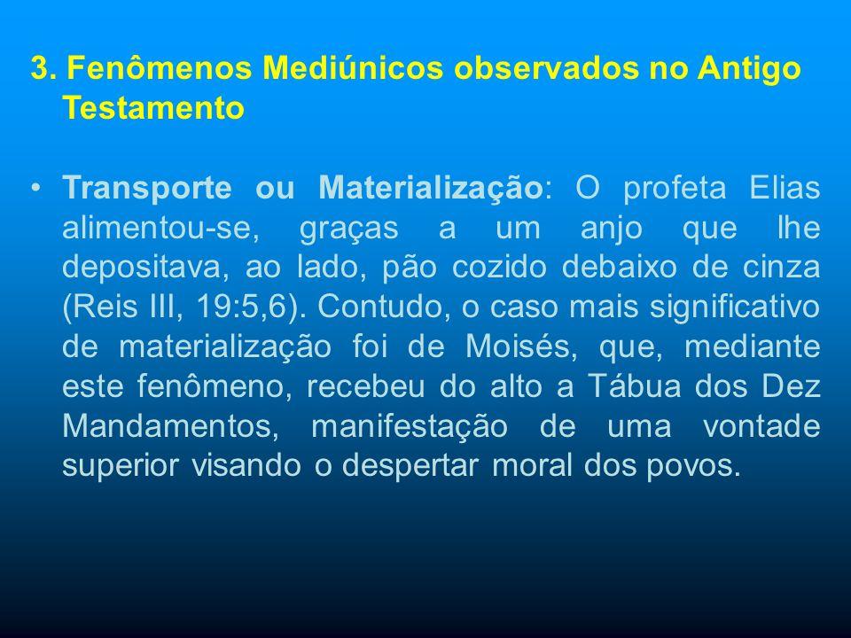 3. Fenômenos Mediúnicos observados no Antigo Testamento Voz direta: Êxodo, 20:18: