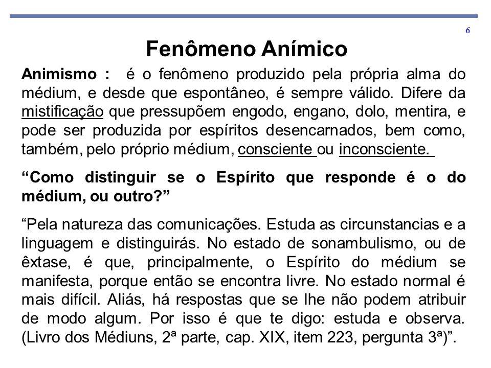 7 Manifestação Mediúnica – As Várias Fases do Fenômeno.