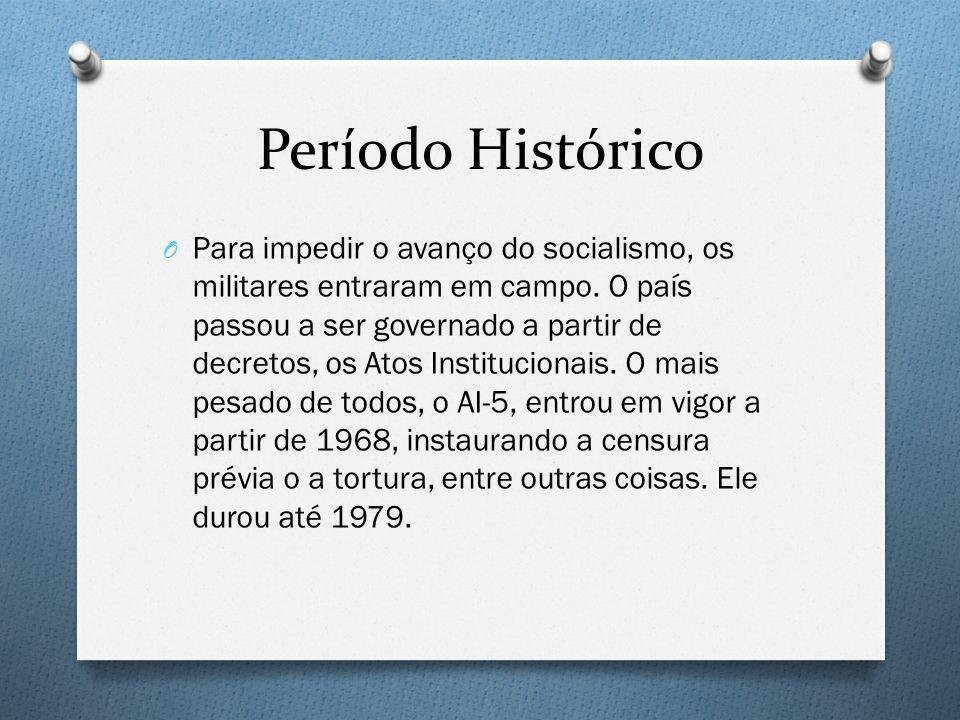 Período Histórico O Para impedir o avanço do socialismo, os militares entraram em campo. O país passou a ser governado a partir de decretos, os Atos I
