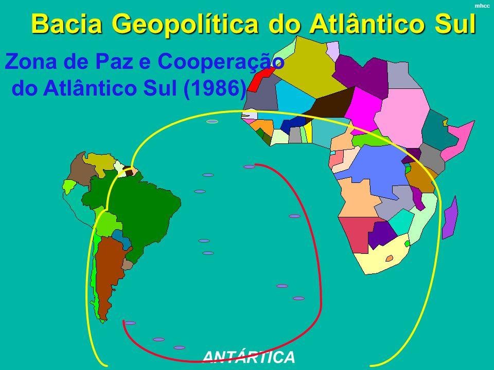 Bacia Geopolítica do Atlântico Sul ANTÁRTICA mhcc Zona de Paz e Cooperação do Atlântico Sul (1986)