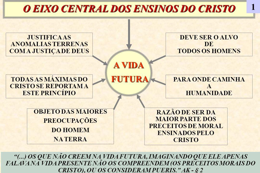 A VIDA FUTURA FUTURA OBJETO DAS MAIORES PREOCUPAÇÕES DO HOMEM NA TERRA RAZÃO DE SER DA MAIOR PARTE DOS PRECEITOS DE MORAL ENSINADOS PELO CRISTO JUSTIF