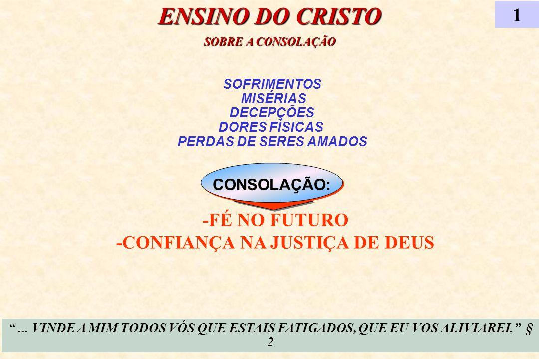 SOFRIMENTOS MISÉRIAS DECEPÇÕES DORES FÍSICAS PERDAS DE SERES AMADOS CONSOLAÇÃO: ENSINO DO CRISTO SOBRE A CONSOLAÇÃO... VINDE A MIM TODOS VÓS QUE ESTAI