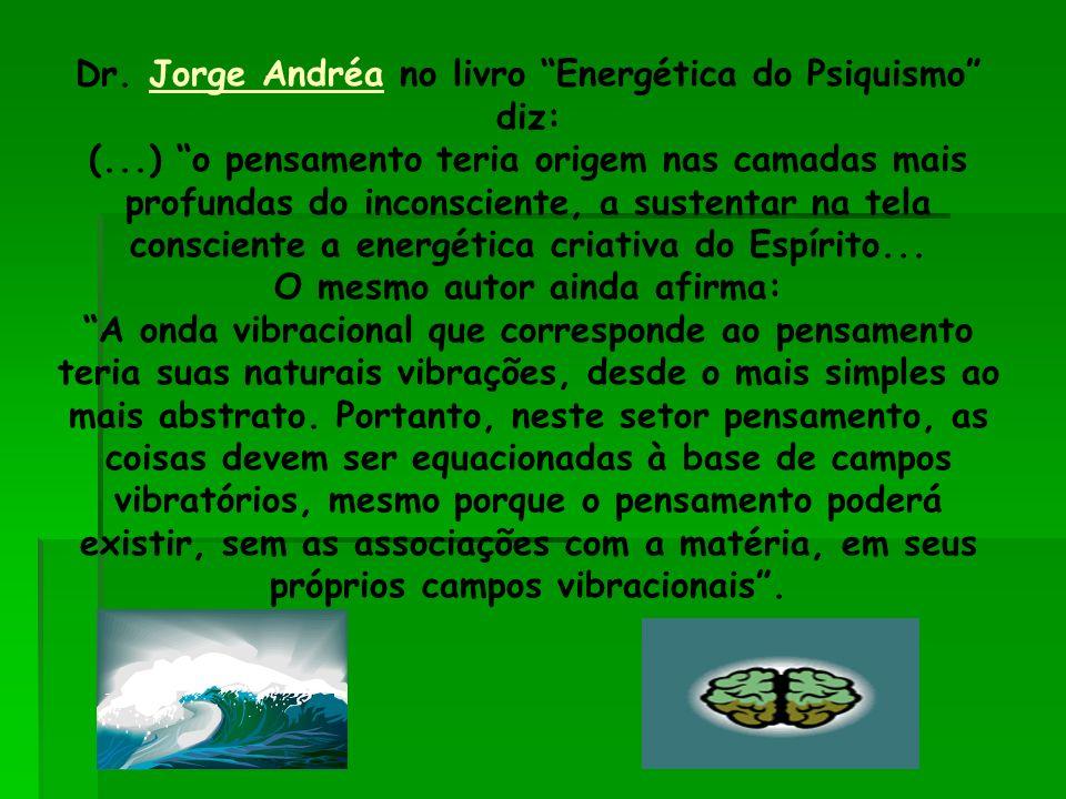 Dr. Jorge Andréa no livro Energética do Psiquismo diz: (...) o pensamento teria origem nas camadas mais profundas do inconsciente, a sustentar na tela