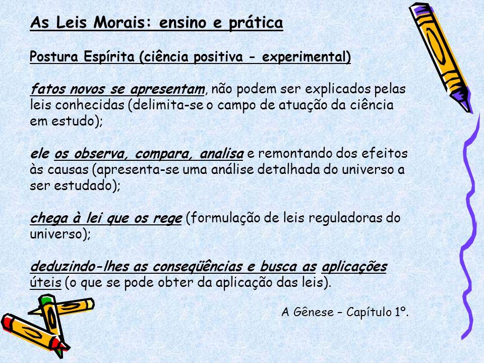 As Leis Morais: ensino e prática O que é lei moral.