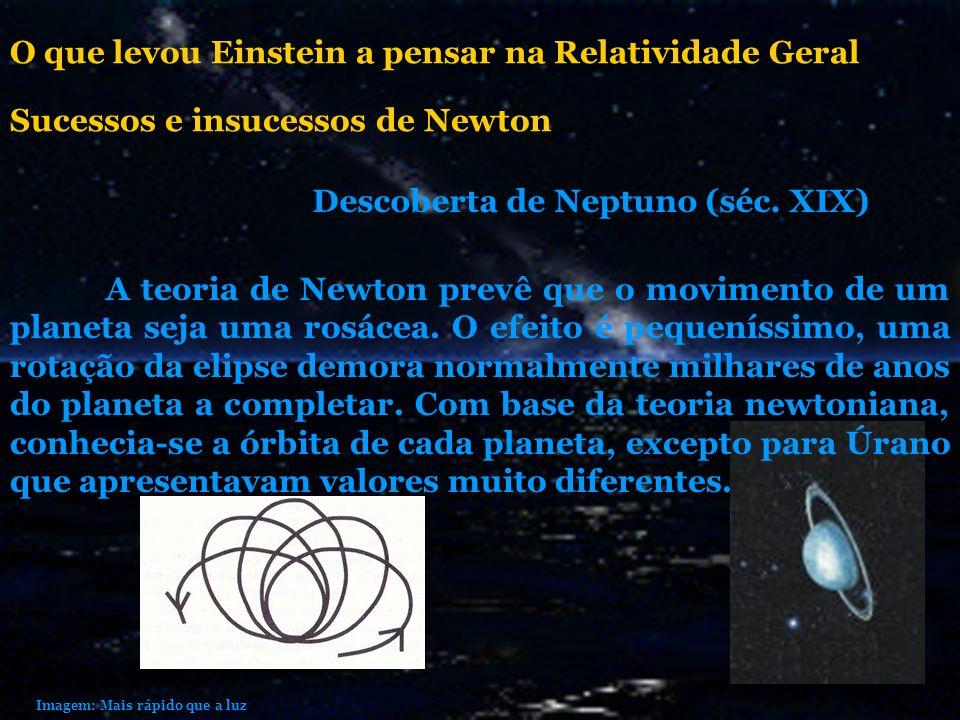 A teoria de Newton prevê que o movimento de um planeta seja uma rosácea. O efeito é pequeníssimo, uma rotação da elipse demora normalmente milhares de