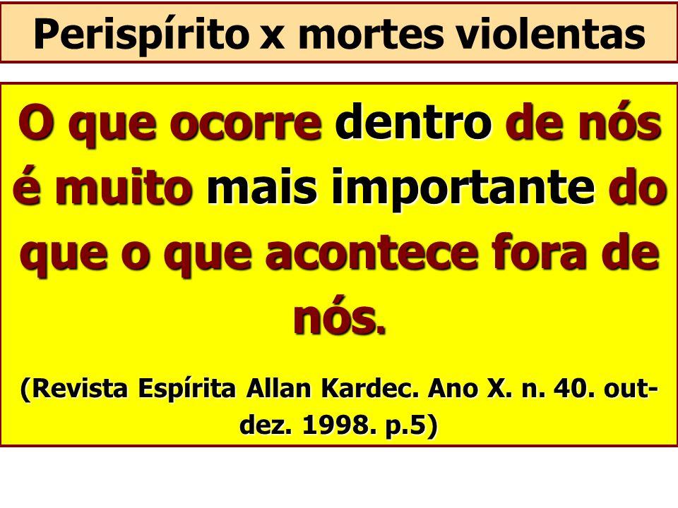 O que ocorre dentro de nós é muito mais importante do que o que acontece fora de nós. (Revista Espírita Allan Kardec. Ano X. n. 40. out- dez. 1998. p.