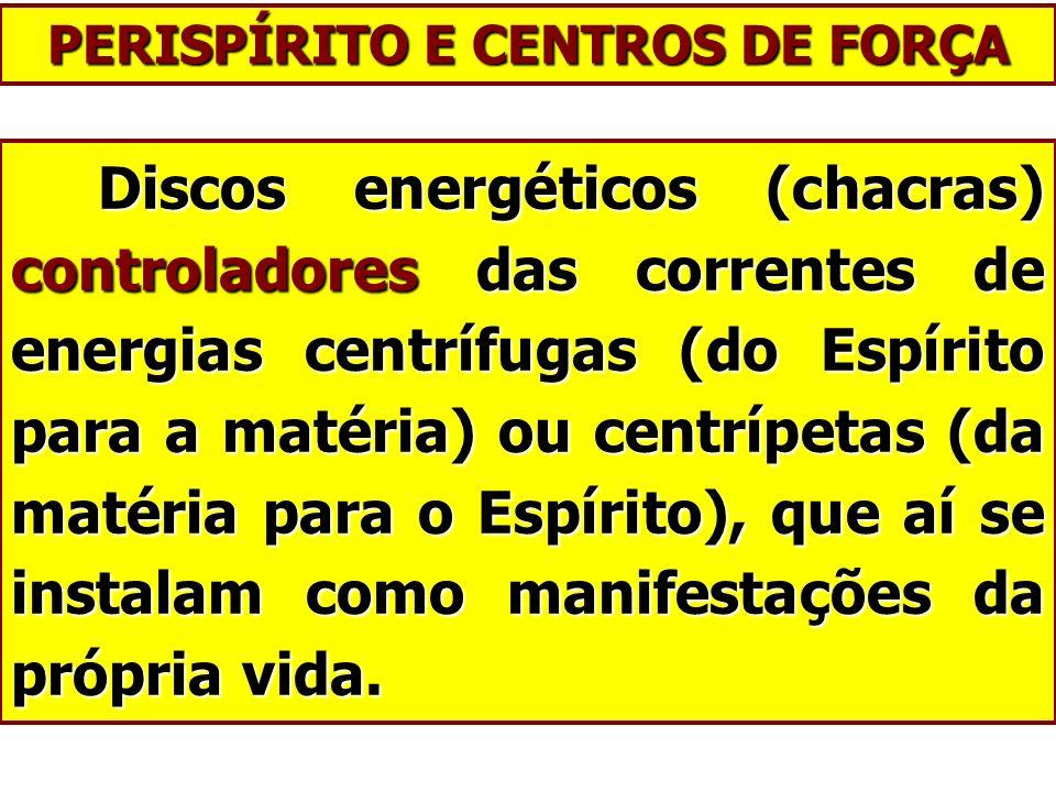 Discos energéticos (chacras) controladores das correntes de energias centrífugas (do Espírito para a matéria) ou centrípetas (da matéria para o Espíri