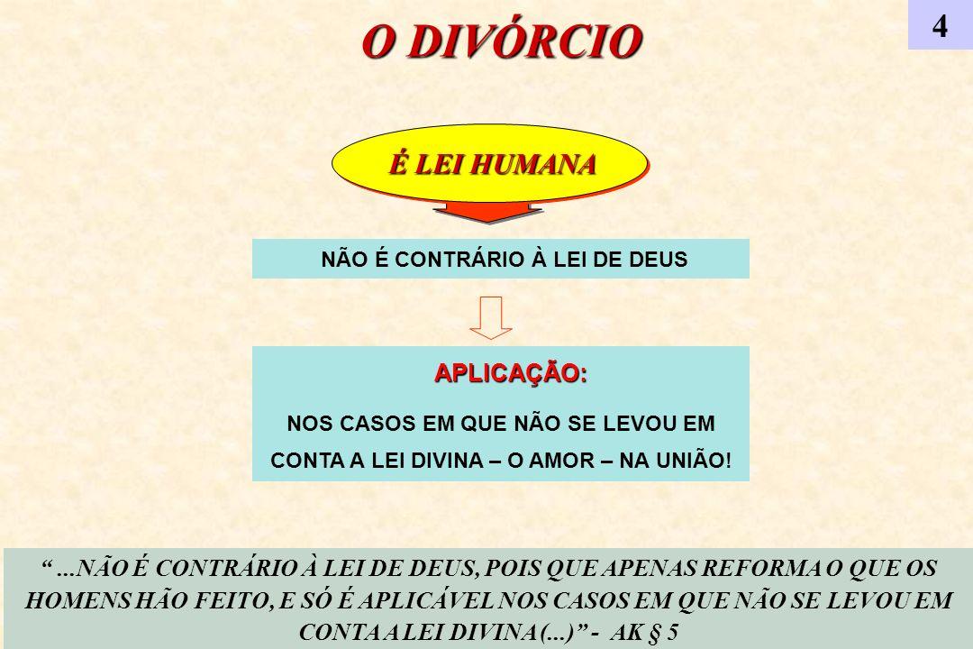 JESUS E A LEI CIVIL 5 (...) ERA, DE CERTO MODO, UMA LEI CIVIL, SUBSTITUÍDA POR OUTRA LEI CIVIL, MAS QUE, COMO TODAS AS LEIS DESSA NATUREZA, TINHA DE PASSAR PELA PROVA DO TEMPO...