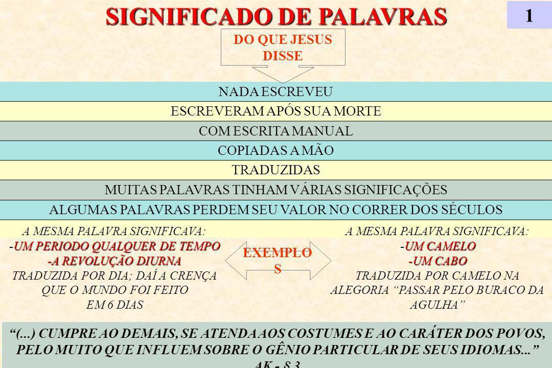 SIGNIFICADO DE PALAVRAS 1 (...) CUMPRE AO DEMAIS, SE ATENDA AOS COSTUMES E AO CARÁTER DOS POVOS, PELO MUITO QUE INFLUEM SOBRE O GÊNIO PARTICULAR DE SEUS IDIOMAS...
