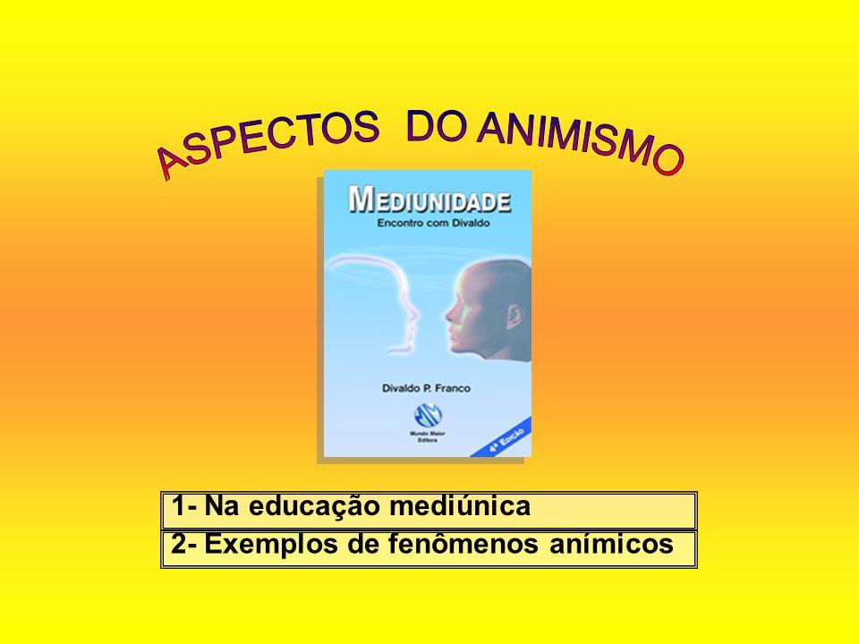 1- Na educação mediúnica 2- Exemplos de fenômenos anímicos