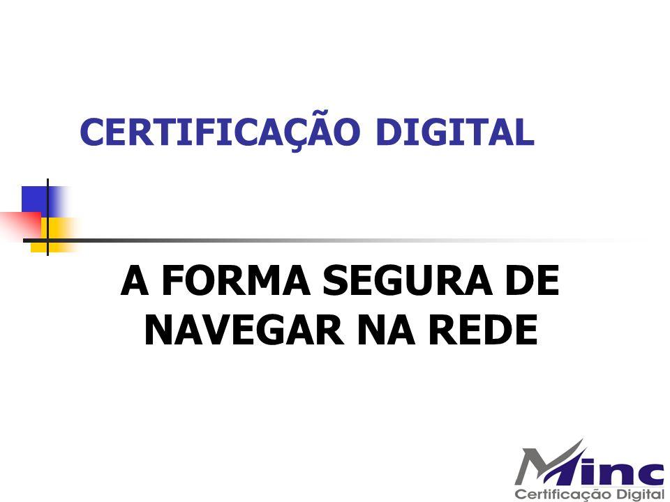 CERTIFICAÇÃO DIGITAL Validade da Certificação Digital: e-CPF A1 1 ano Armazenado em Computador (HD).