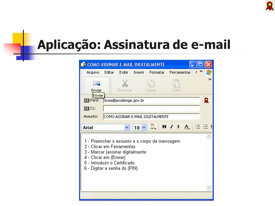 Aplicação: Assinatura de e-mail