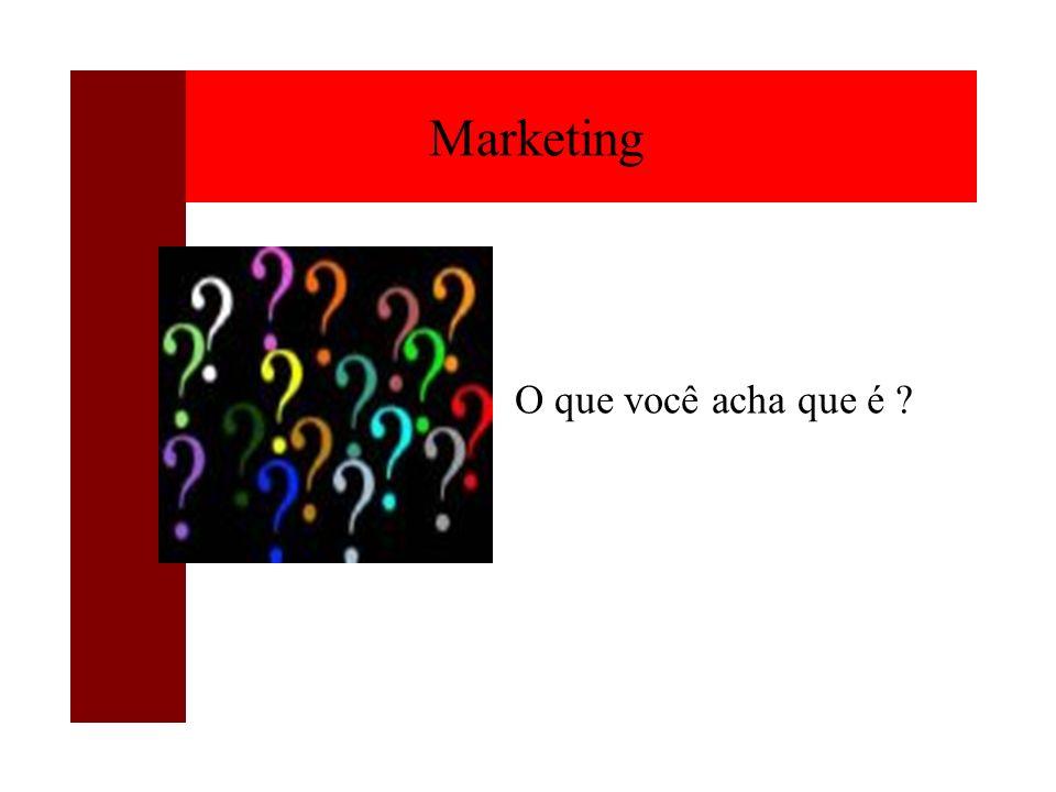 O que você acha que é ? Marketing