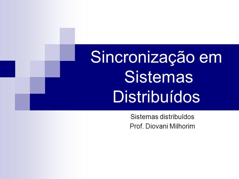Sincronização em Sistemas Distribuídos Sistemas distribuídos Prof. Diovani Milhorim
