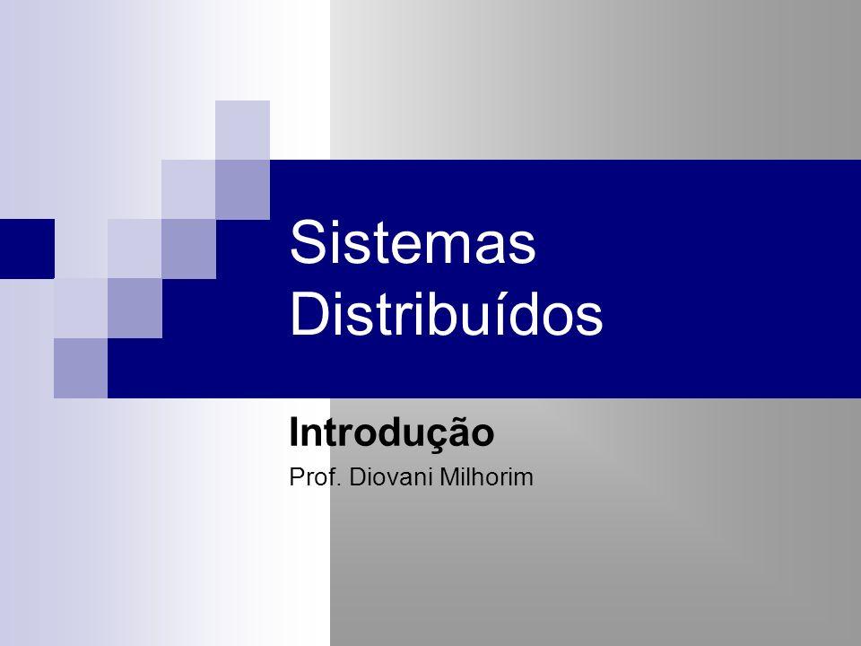 Sistemas Distribuídos Introdução Prof. Diovani Milhorim