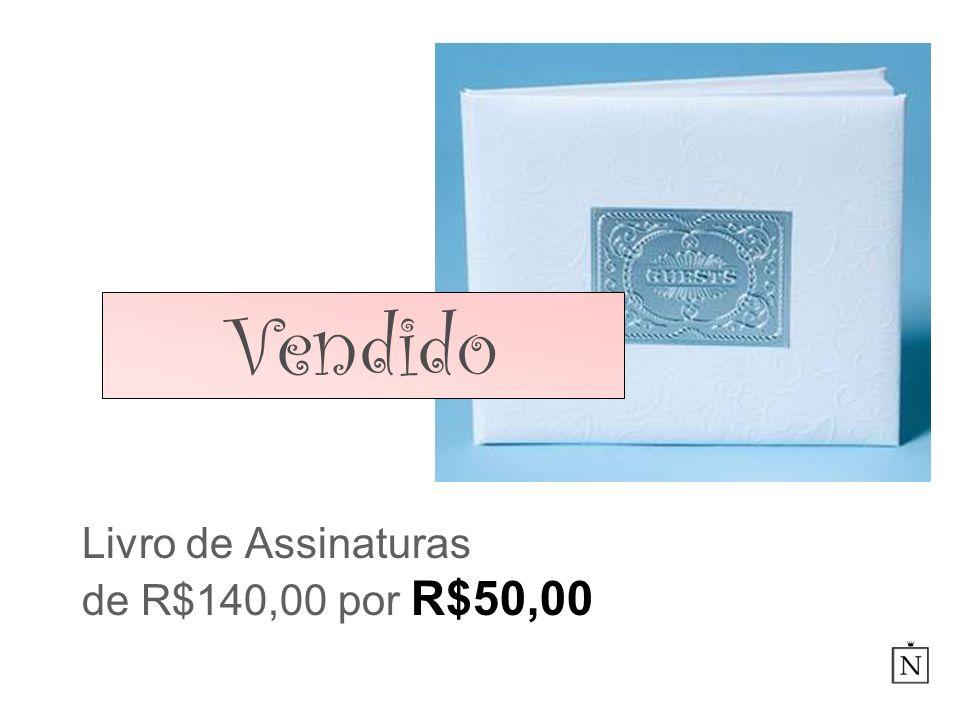 Livro de Assinaturas de R$140,00 por R$50,00 Vendido