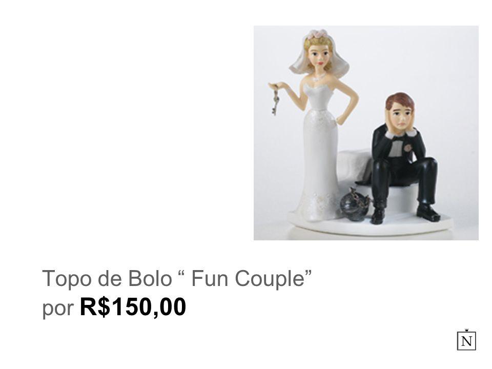 Topo de Bolo Fun Couple por R$150,00